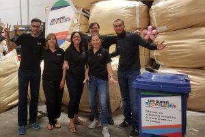 The Super Recyclers team during the 2017-2018 grant winner draw