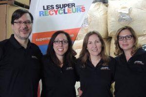 L'équipe des Super Recycleurs lors du tirage des bourses 2017-2018