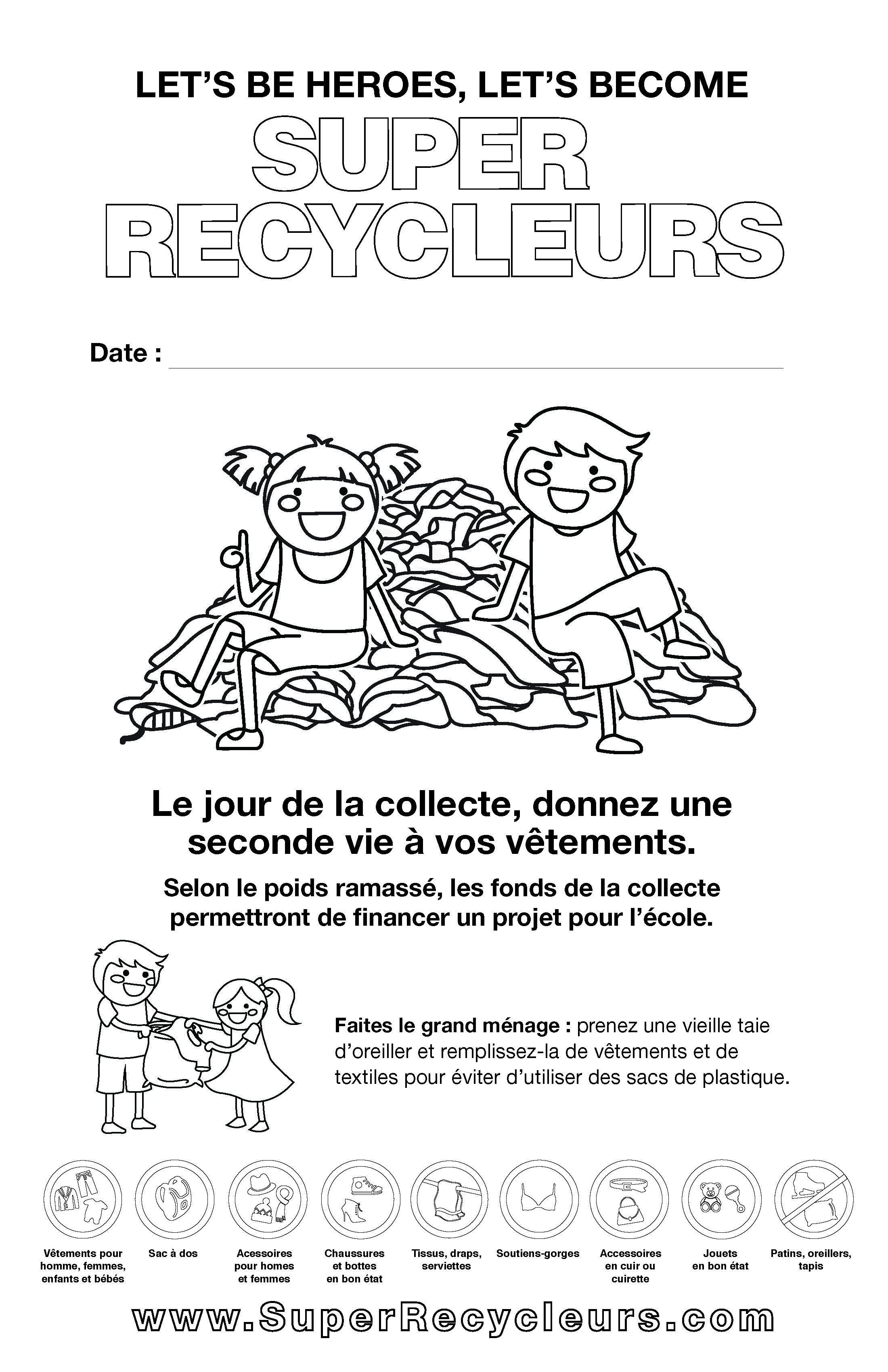 Coloriage Garderie Ecole.Affiche 11x17 Ecole A Colorier En Site Officiel Des Super