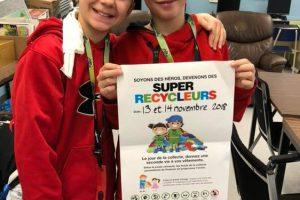 Collecte des Super Recycleurs - École alternative Freinet de Trois-Rivières