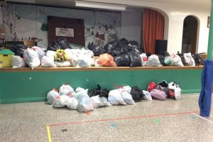 Clothing drive at École Belle-Vallée in Saint-Justin
