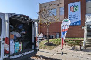 Collecte des Super Recycleurs sans tracas et en toute sécurité. Tout un succès : plus de 1000 kg!