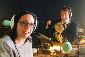 Marie-Claude Guérin, présidente des Super Recycleurs, en entrevue à Radio VM 91,5 FM avec l'animateur MichelGailloux ,DeboutVM.